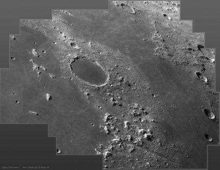 Кратер Платона и лунные Альпы